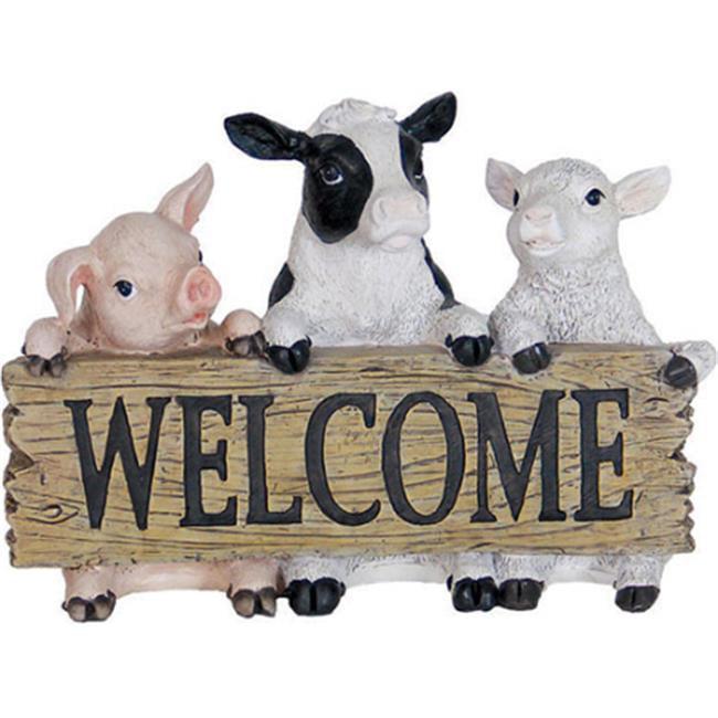 Exhart 10044 Farm Animals Welcome Statue