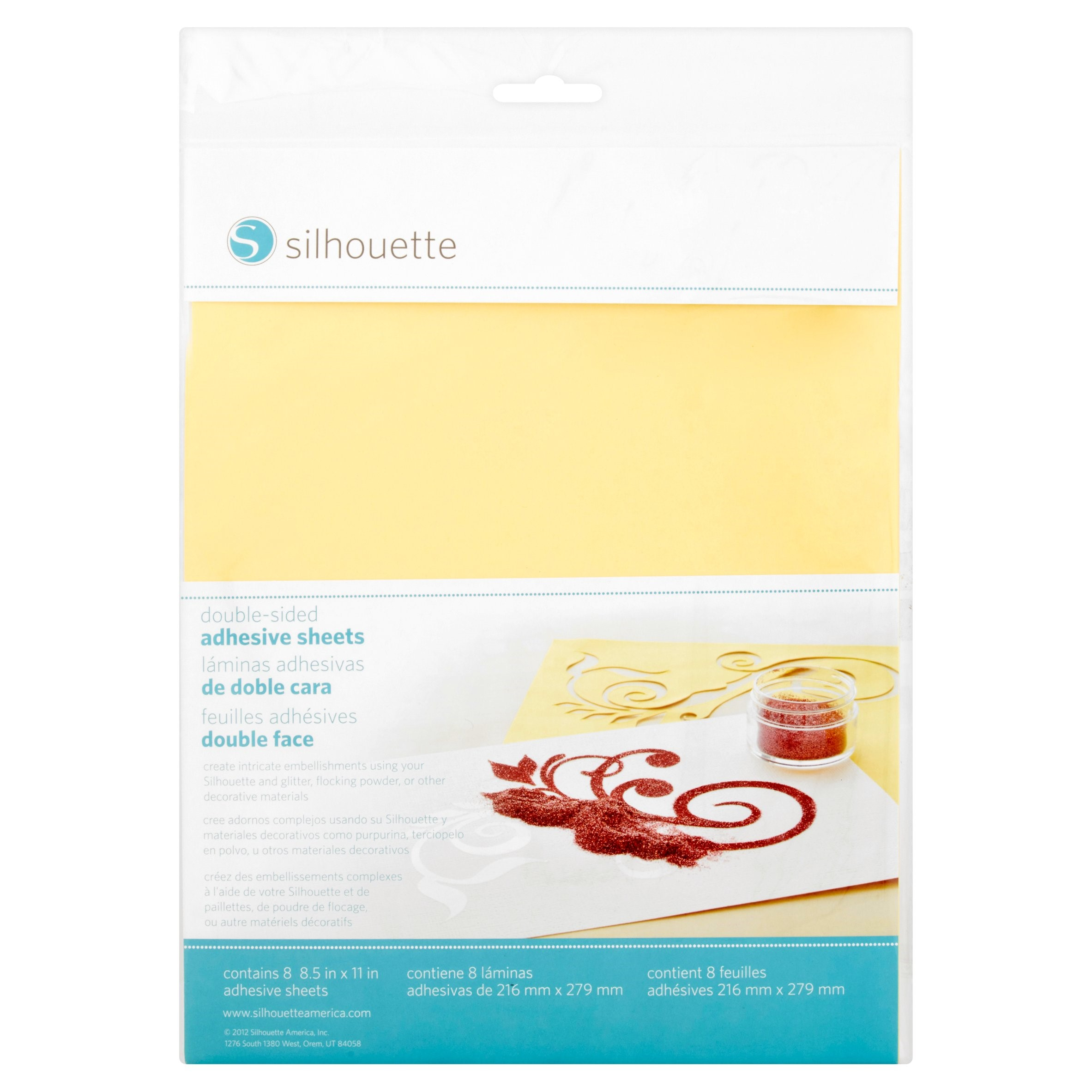 Silhouette Double-Sided Adhesive Sheets, 8 count