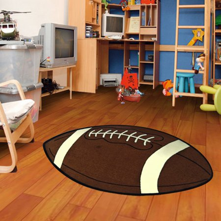 Kids Sports Football Small Shape Area Rug - Michigan State Spartans Football Rug