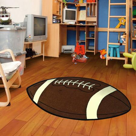 Notre Dame Football Rug (Kids Sports Football Small Shape Area Rug 4'5