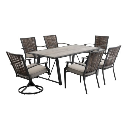 Belham Living Melrosa Wicker 7 Piece Outdoor Patio Dining Set ()