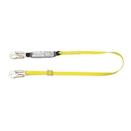 6 ft.L 310 lb. Weight Capacity Yellow Shock Absorbing Lanyard MSA 10072474