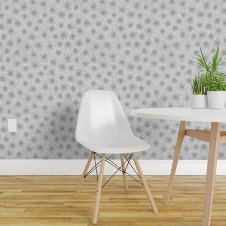 Removable Water Activated Wallpaper Grey Petoskey Stone Fossil Abstrac