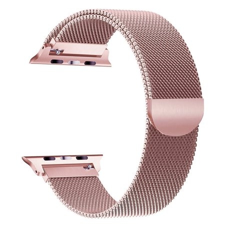 Compatible Stainless Steel Band for Apple Watch Replacement Mesh Strap Bracelet for iWatch Series 1 Series 2 Series 3 Series 4 with Magnetic Closure Clasp 38mm Rose Gold