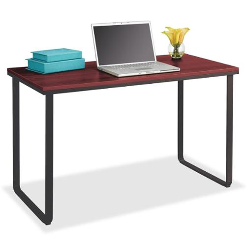"Safco Steel Workstation - Rectangle - 47.25"" X 24"" X 28.8"" - Steel, Fiberboard - Cherry (1943CY)"