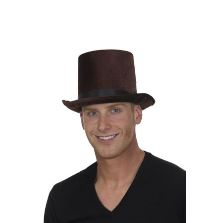 Deluxe Velvet Tall Top Hat Victorian Dickens Roaring 20s Formal Costume - Roaring 20s Dress Styles