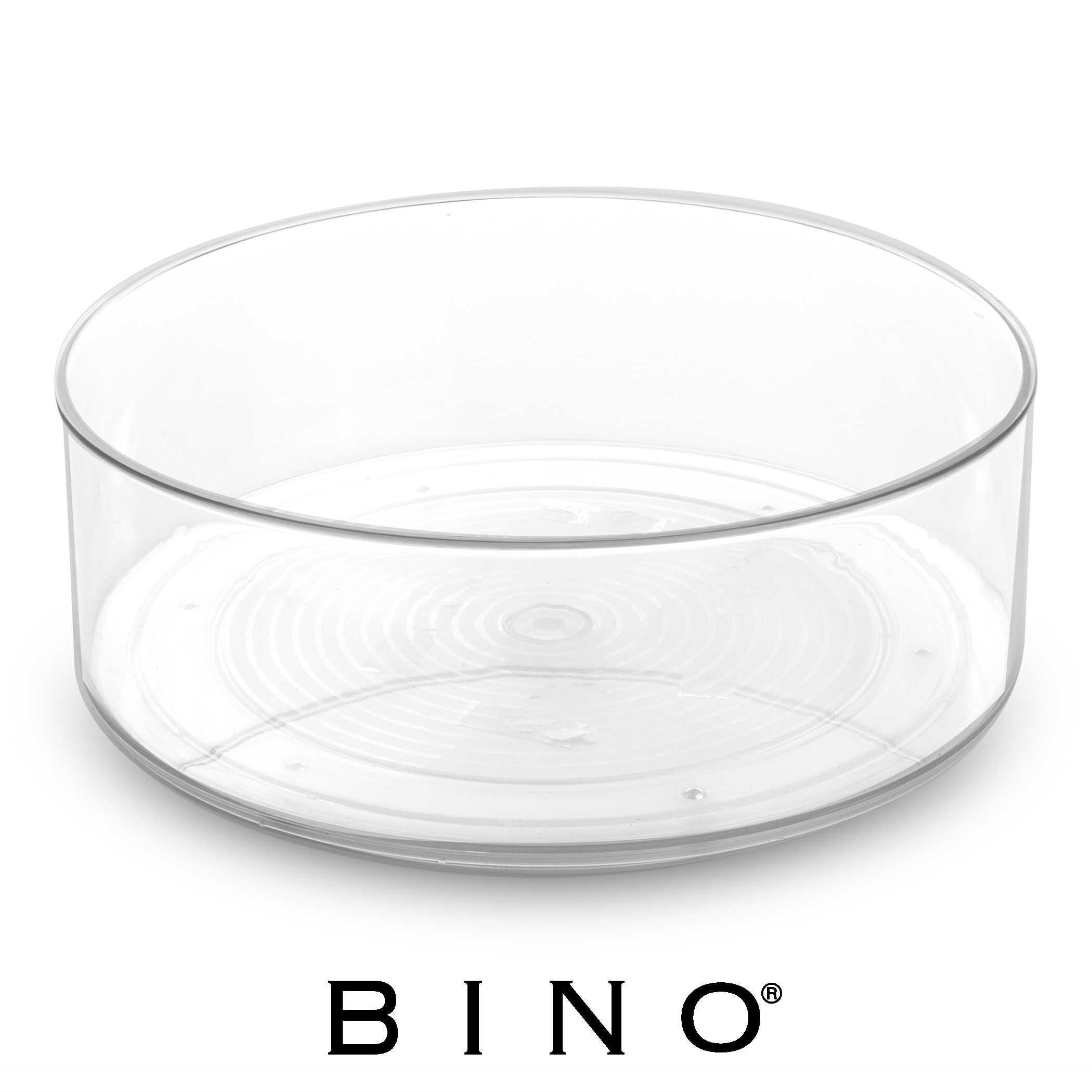 BINO Lazy Susan Turntable Spice Organizer Bin, Clear And Transparent  Plastic Rotating Tray For Kitchen