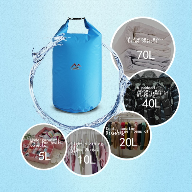 5l10l20l40l70l Dry Bag Sack For Camping Drifting Hiking Swimming Rafting Kayak River Trekking Bags Waterproof Large Capacity Walmart Com Walmart Com