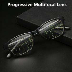 Black classic retro full frame Progressive Multifocal Reading Glasses +1.0 +1.5 +2.0 +2.5