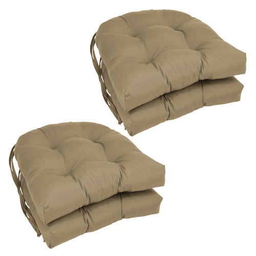 Blazing Needles Dining Chair Cushion (Set of 4)