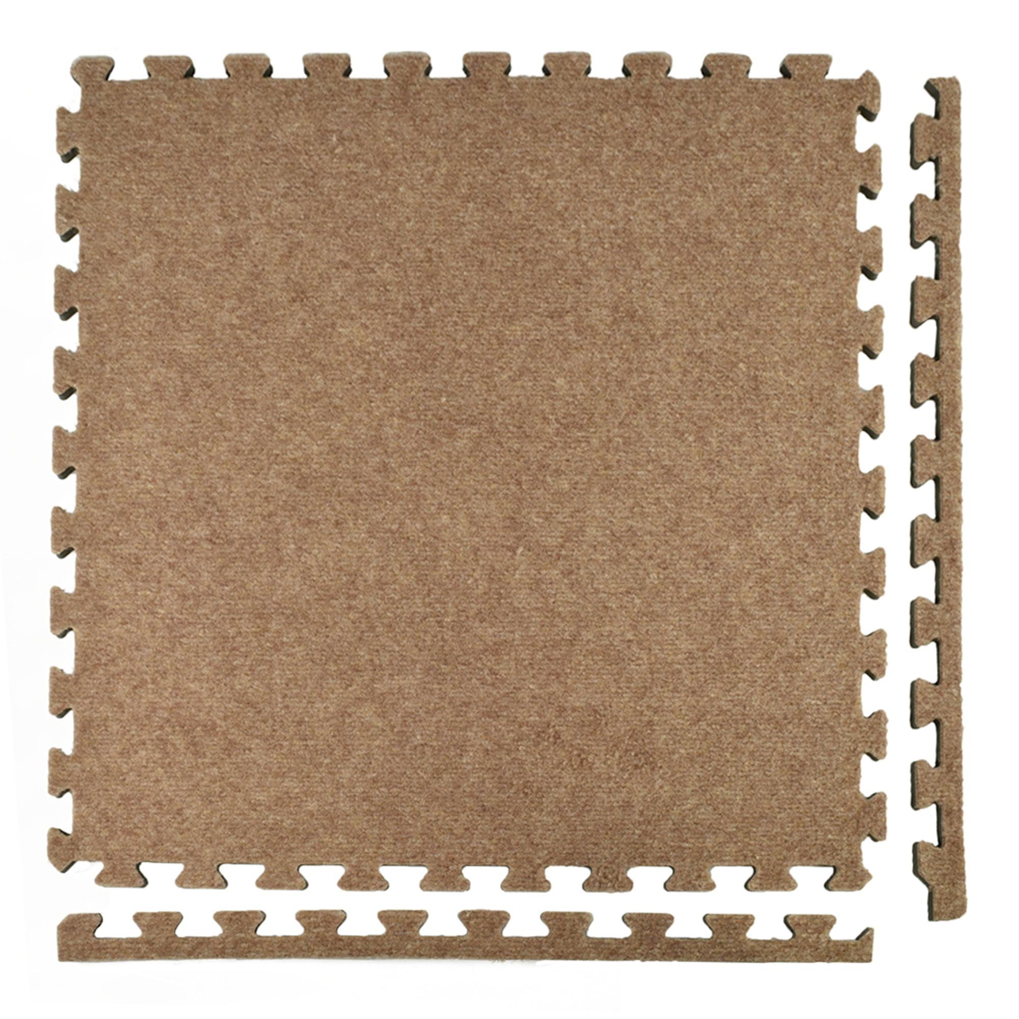 Greatmats Royal Interlocking 2 ft. x 2 ft. x 5/8 in. Carpet Floor Tiles Blue 25 Pack