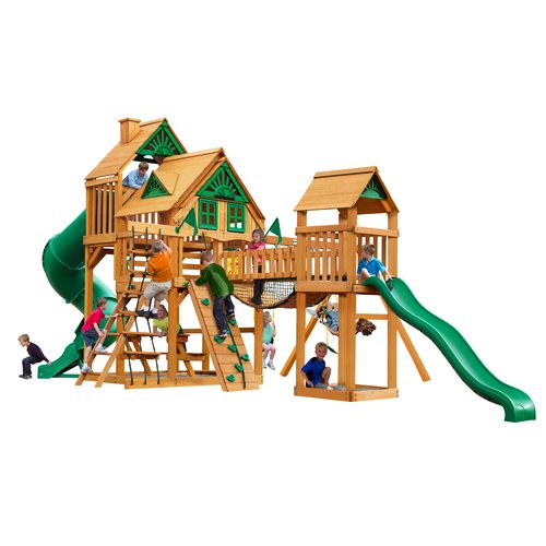 Gorilla Playsets Treasure Trove Treehouse Swing Set with Amber Posts by Gorilla Playsets