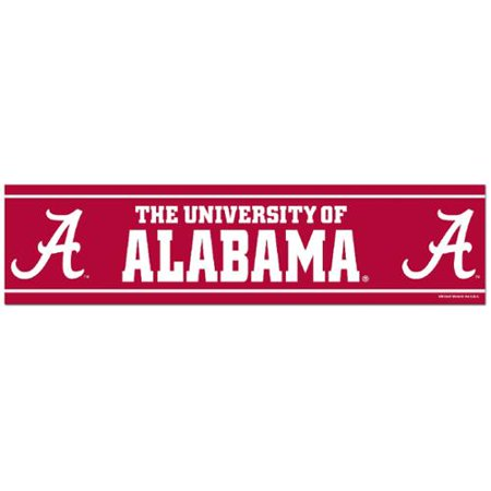 Alabama Crimson Tide Official NCAA 12 inch x 3 inch  Bumper Sticker by WinCraft