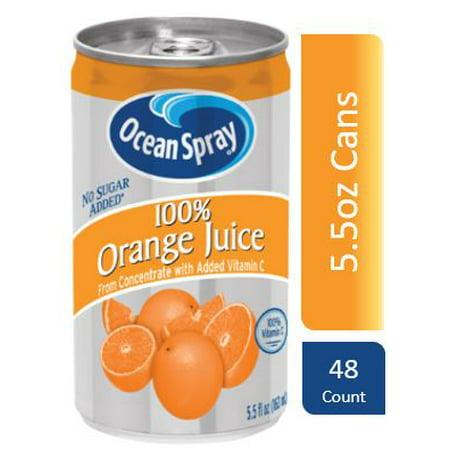 Ocean Spray 100% Orange Juice, 5.5 Fl Oz, 48 Count