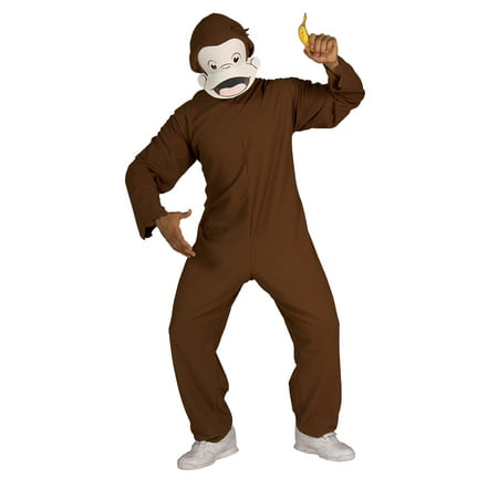 Curious George Adult Halloween Costume, Size: Men's - One Size - George Of The Jungle Costume