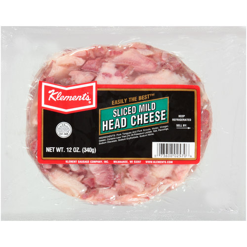 Klement's Sliced Mild Head Cheese, 12 oz