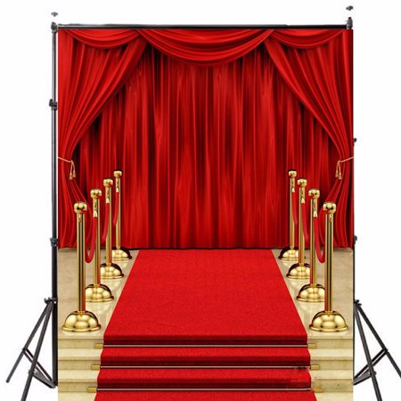 5x7FT Podium Red Carpet Curtain Wedding photography backdrops Photo Video Studio Props Vinyl Fabric Photography Backdrop Background