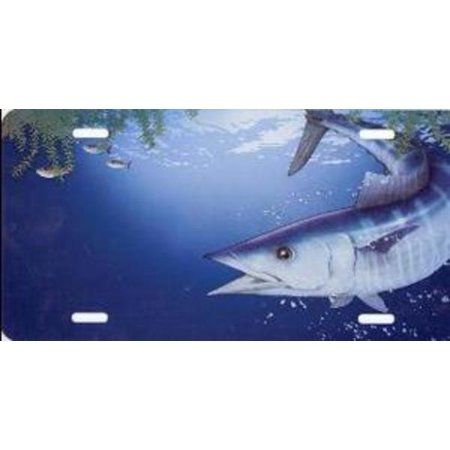 Wahoo fish license plate free personalization on this for Walmart fishing license