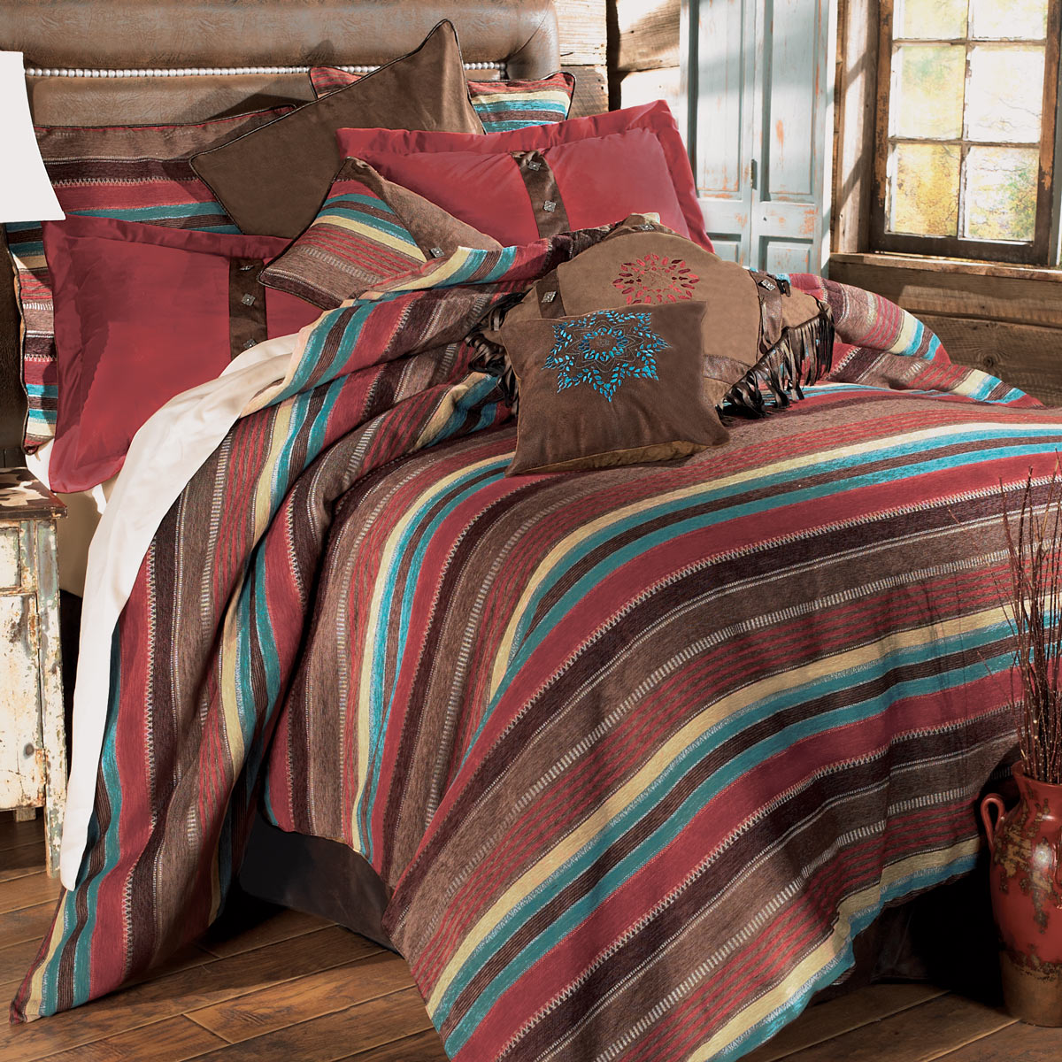 Western Espuelas Rustic Bed Set   Queen   Southwestern Bedding Decor    Walmart.com