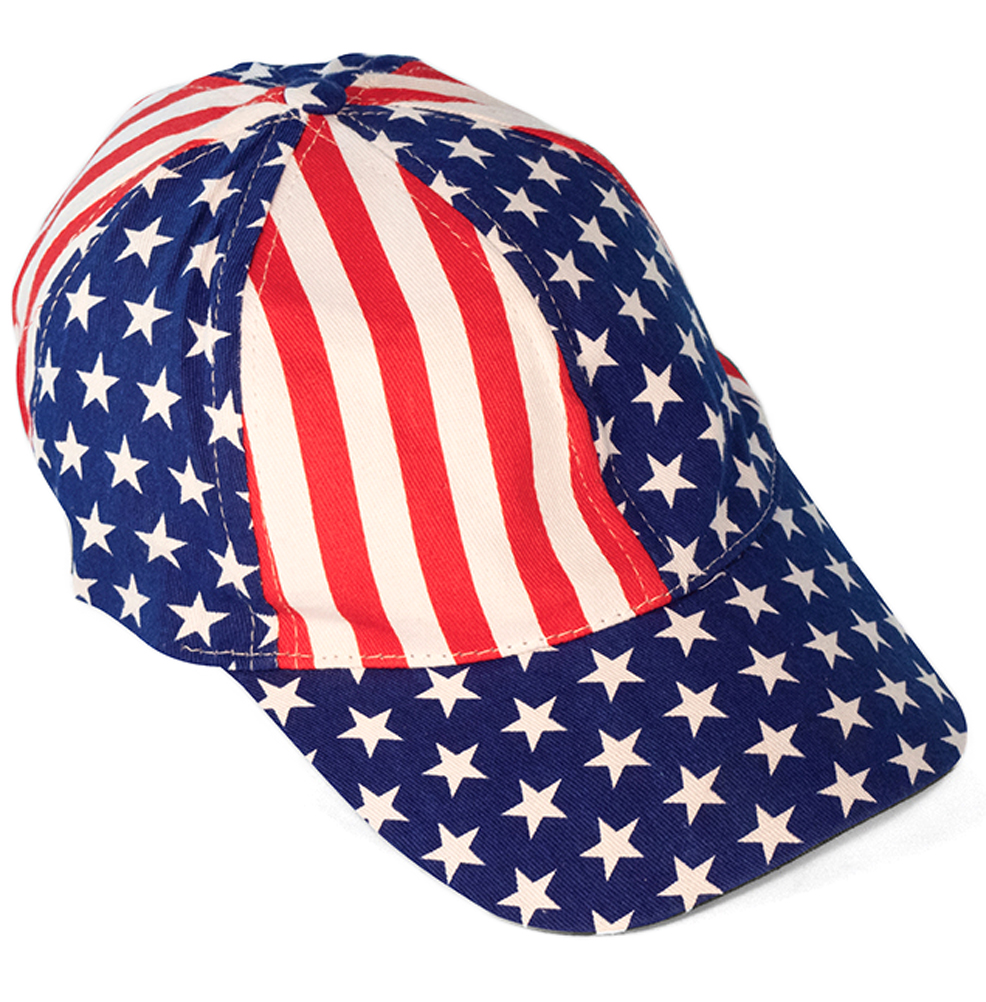 American Flag Patriotic Baseball Cap Adult Costume Accessory