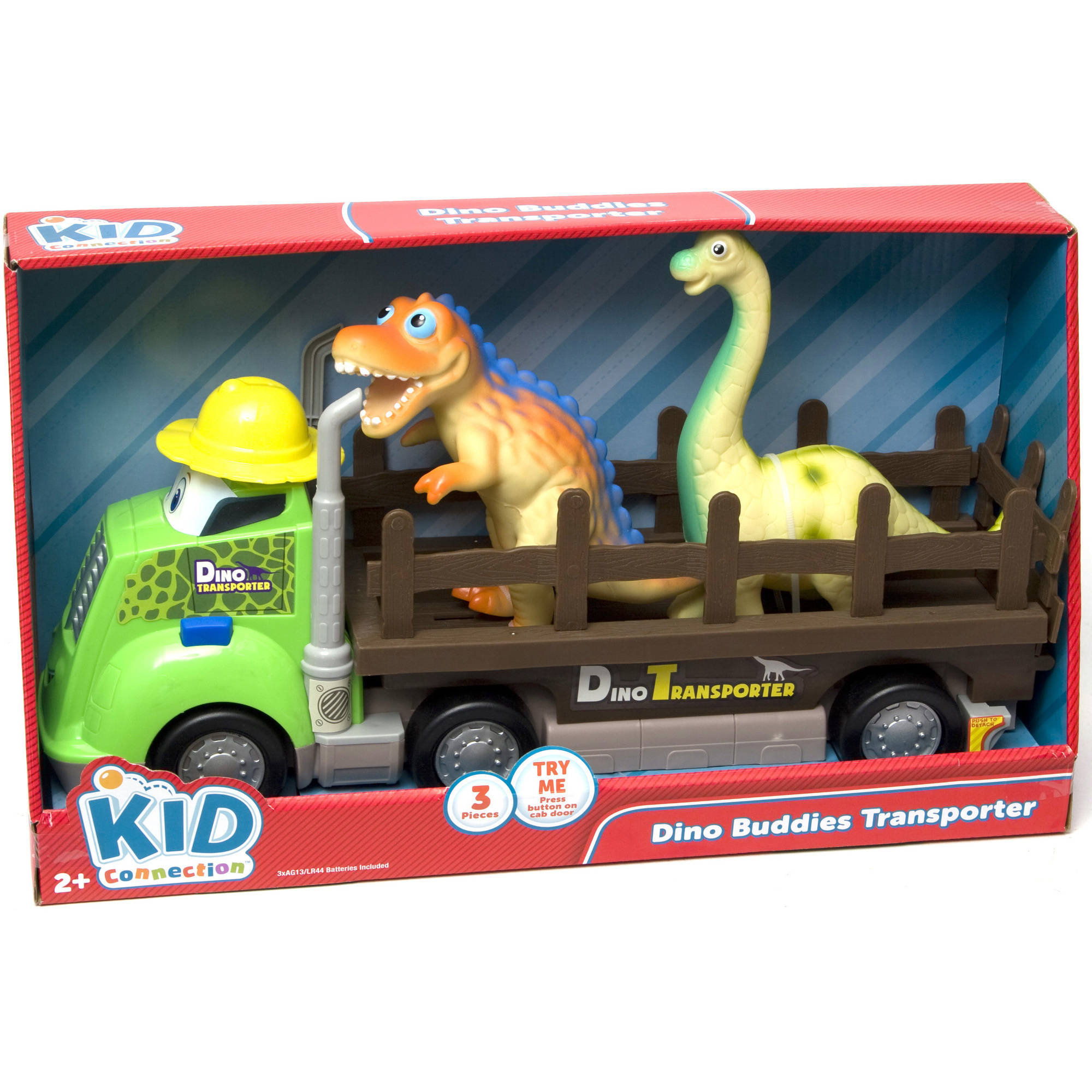 Dinosaur Truck Carry Case Transporter Toys With 6 dinosaurs and 7 compartments