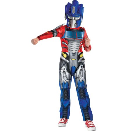 80s Jumpsuit Costume (Suit Yourself Transformers Optimus Prime Costume for Boys, Includes an Autobot Printed Jumpsuit and a)