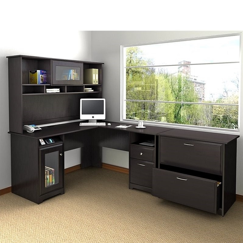 Bush Cabot 3 Piece Office Set in Espresso Oak