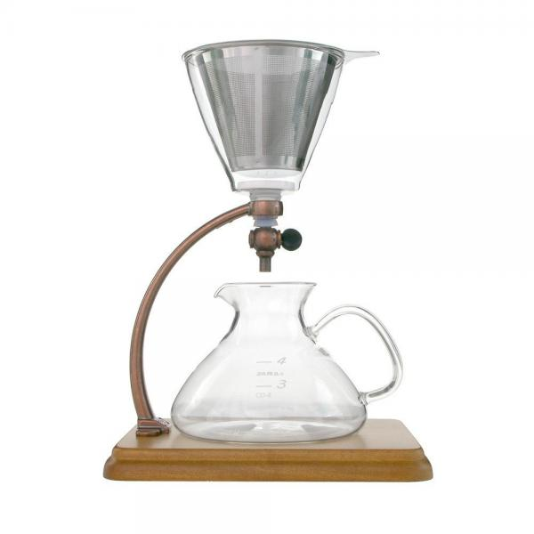 Yama Silverton Hot or Cold Coffee Dripper, Copper/Wood 18...