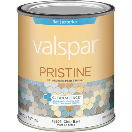 Valspar Pristine 100 Acrylic Paint Primer Flat Exterior House Paint