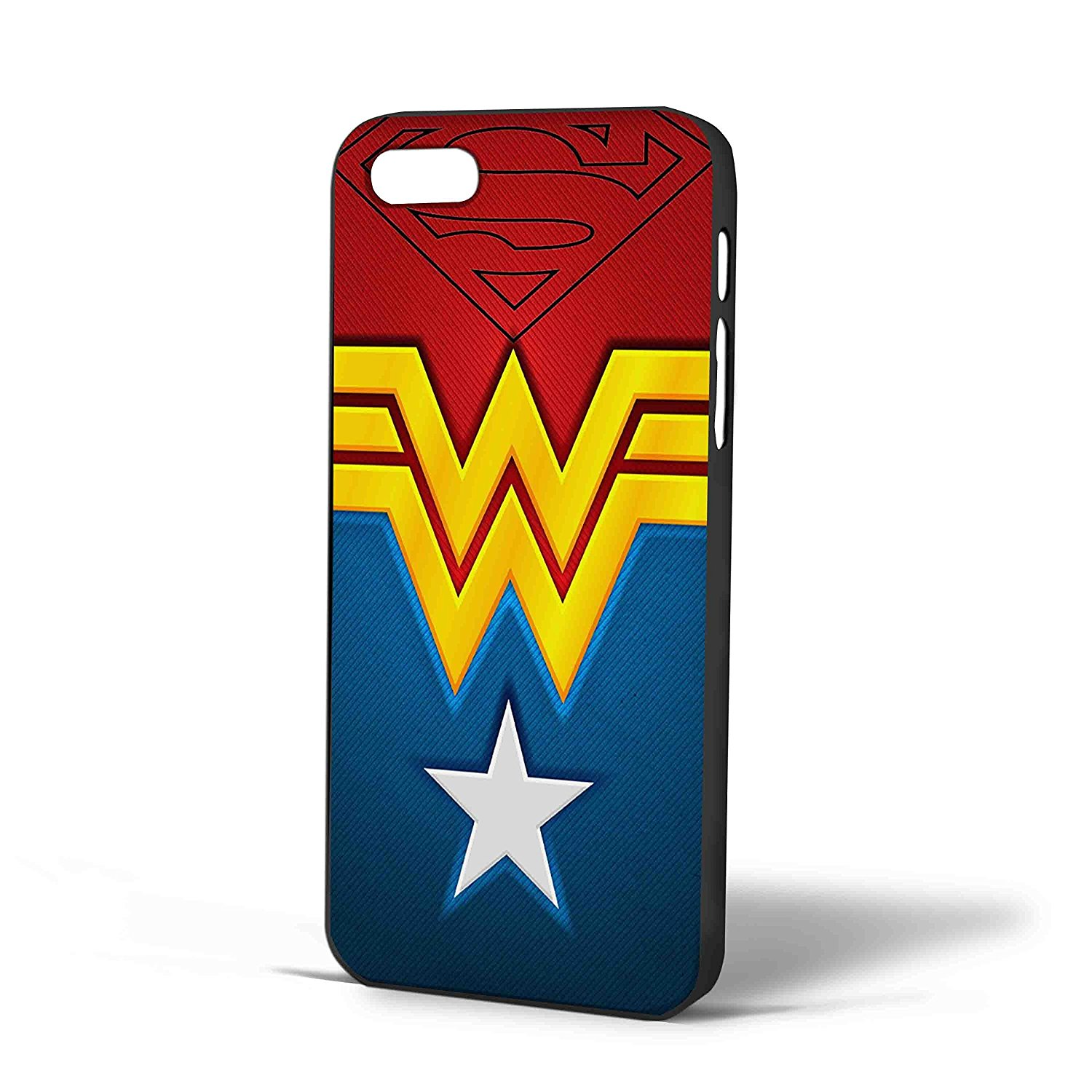 Ganma superman and wonder women logo art Case For iPhone Case (Case For iPhone 6s plus White)