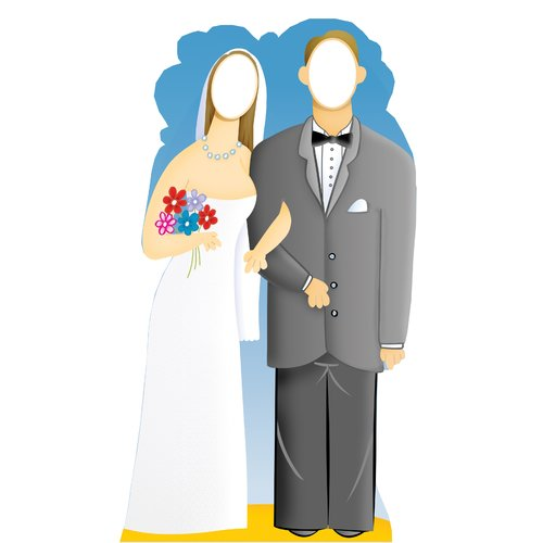 Advanced Graphics Life-Size Stand-Ins Wedding Couple Cardboard Stand-Up