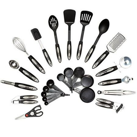HULLR 25-Piece Kitchen Utensils Set, All Purpose Kitchen Tool Set ...