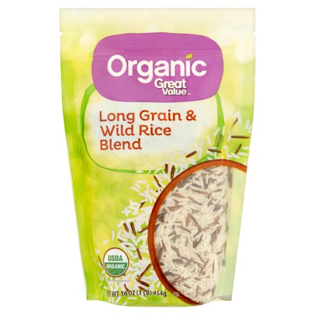 Great Value Organic Long Grain   Wild Rice Blend  16 Oz