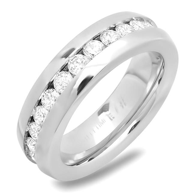 Ladies Stainless Steel Band Ring, Size - 7