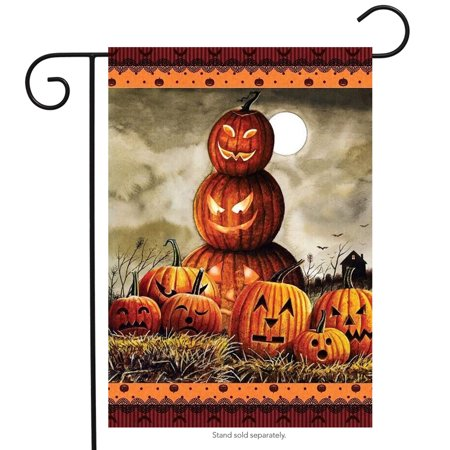 Halloween Jack O'Lanterns Garden Flag Holiday 12.5