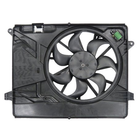 2012 Shroud - NEW DUAL RADIATOR AND CONDENSER FAN FITS BUICK ENCORE 2013 2014 2015 2016 95301357 GM3115257 1 MALE CONNECTOR 4 CONNECTOR TERMINALS SINGLE FAN WITH SHROUD