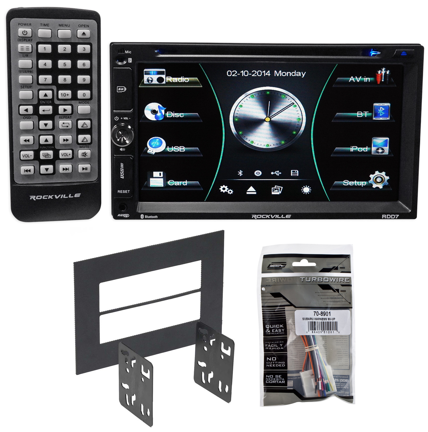 DVD/iPhone/Android/Spotify/Bluetooth Stereo Receiver For 1998-04 Subaru Forester