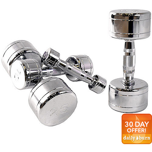 CAP Barbell Chrome Dumbbell with Contoured Handle, Single