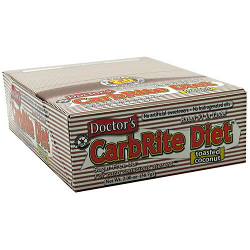Doctor's CarbRite Diet Bar, Toasted Coconut, 18g Protein, 12 Ct
