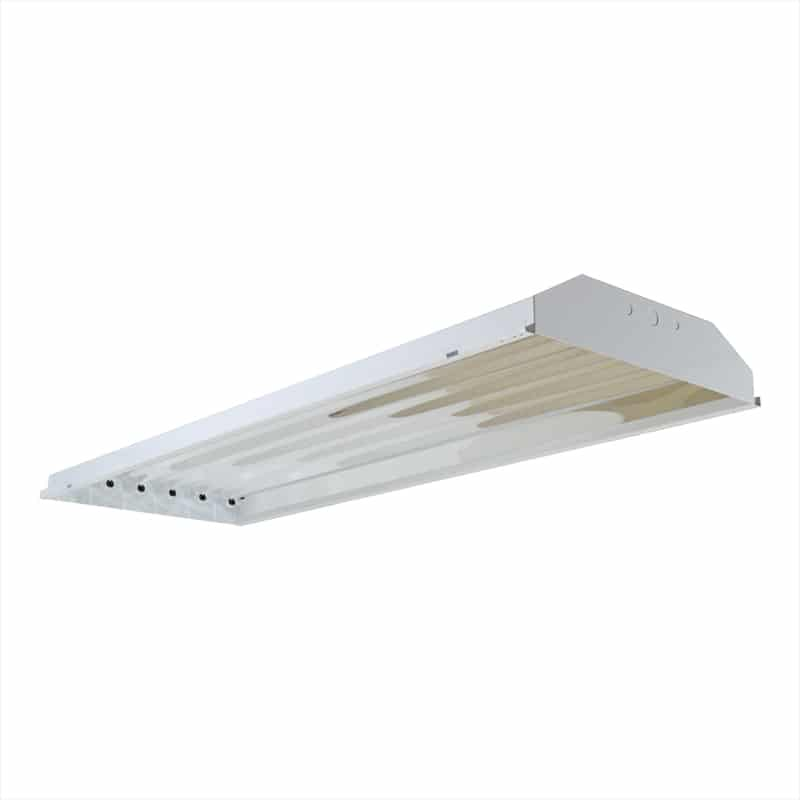 Four Bros Lighting HB6-T5 6 Lamp - F54T5HO T5 High Output - 4 ft. Fluorescent High Bay - - T5 High Bay Lighting