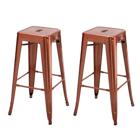 Homebeez 30 Inches Metal Bar Stools Tolix Style Counter Height Outdoor