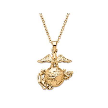 Marine Corps Pendant Necklace 14k Gold-Plated (14k Gold Marlin)