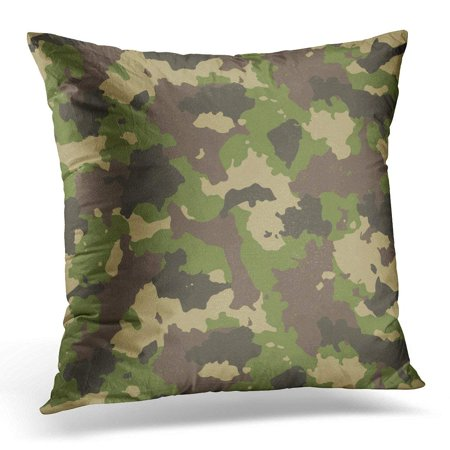 ARHOME Army Woodland Summer Camouflage Trendy Style Camo Combat Pillow Case Pillow Cover 18x18 inch