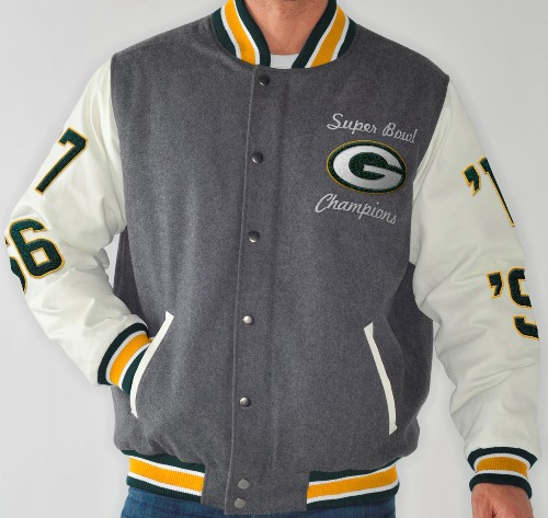 "Green Bay Packers NFL ""Linebacker"" Super Bowl Commemorative Premium Jacket"