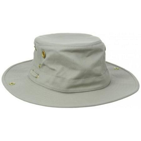 4c6ec2f1 Tilley Size 7 1/2 Unisex T3 Cotton Duck Snap-up Brim Hat, Khaki/Olive -  Walmart.com