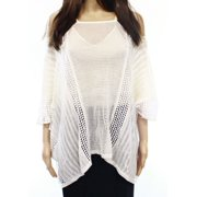 Free People NEW White Solid Women's Size Medium M Knit Top Blouse