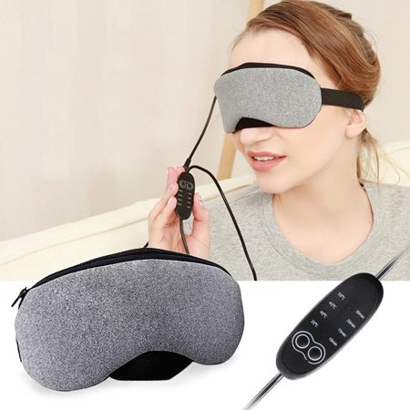 Portable Cold and Hot USB Heated Steam Eye Mask for Sleeping, Eye Puffiness, Dry Eye, Tired Eyes, with Time and Temperature Control, Best Mother's Day
