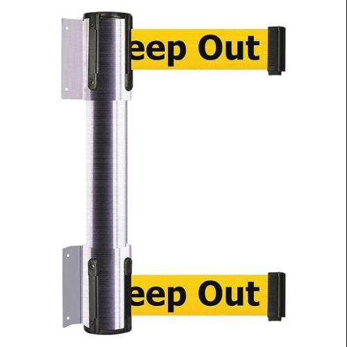 TENSATOR 896T2-1S-MAX-YDX-C Belt Barrier, Danger - Keep Out, 2 in. W