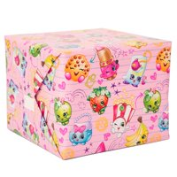 Shopkins Birthday Wrapping Paper Roll, 5ft x 2.5ft, 1ct