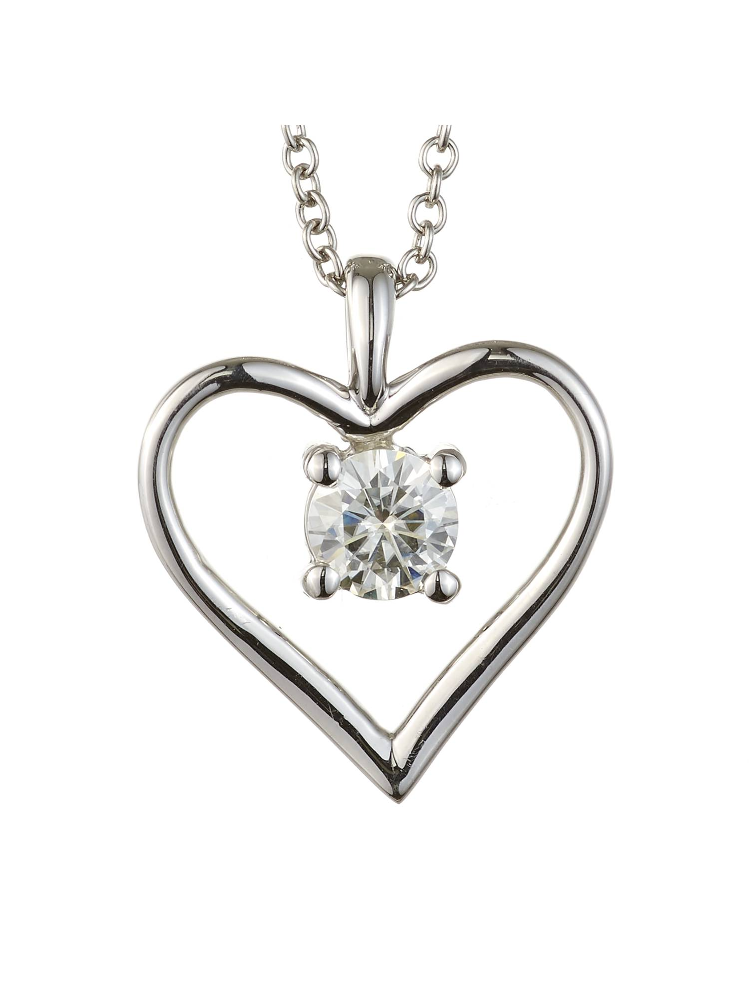 center si bezel i forever and set e in gold diamond white moissanite pendant h one f carat vs halo necklace